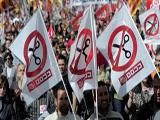 SPANIARDS PROTEST LABOR REFORMS