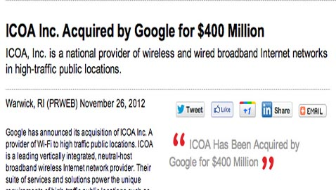 Unscrupulous Hoaxers Pocket Millions As Misleading Press Release Invents $400 Million Google Deal