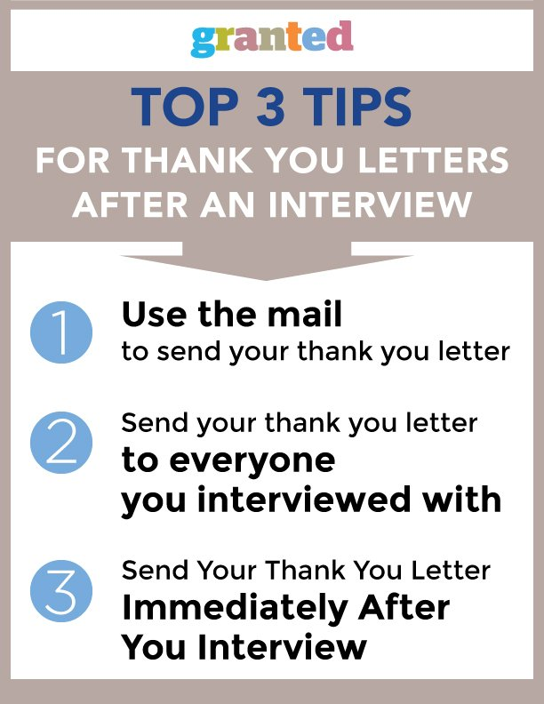 Marvelous Top Tips For Thank You Letters After An Interview Granted Blog