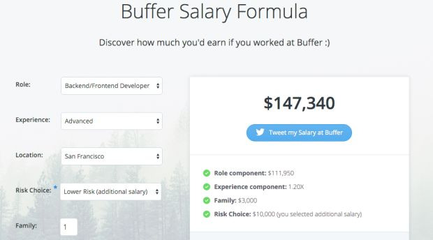 Buffer Salary Calculator  Salary Calculator